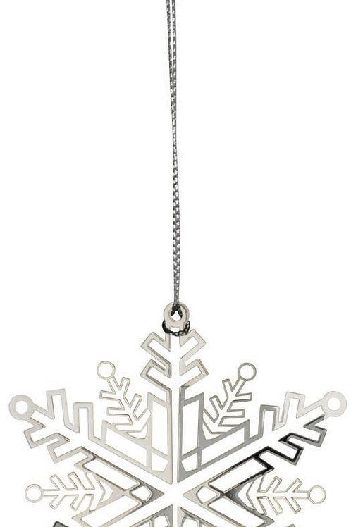 Silver Snowstar Ornament