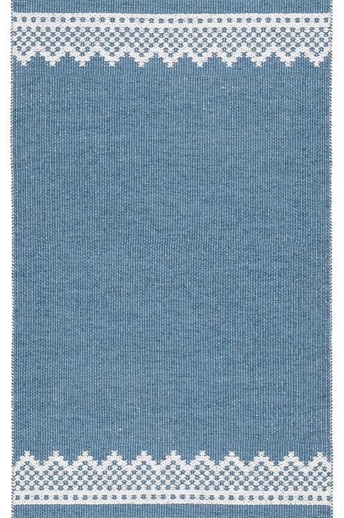 """MARIUS Blue/Green Marit Plastic Rug, 28""""x78"""""""