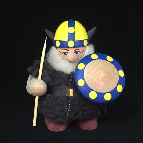 Large Viking w/Fur Cloak & Sweden Helmet