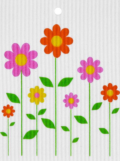 Summer Flowers Wash Towel (MIN 6)