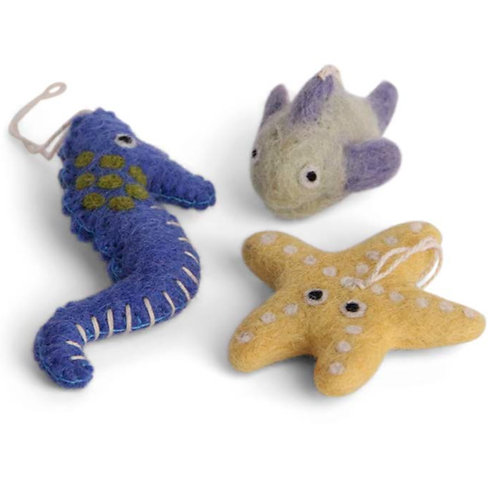 Blue and Yellow Sea Set Ornaments (MIN 8)