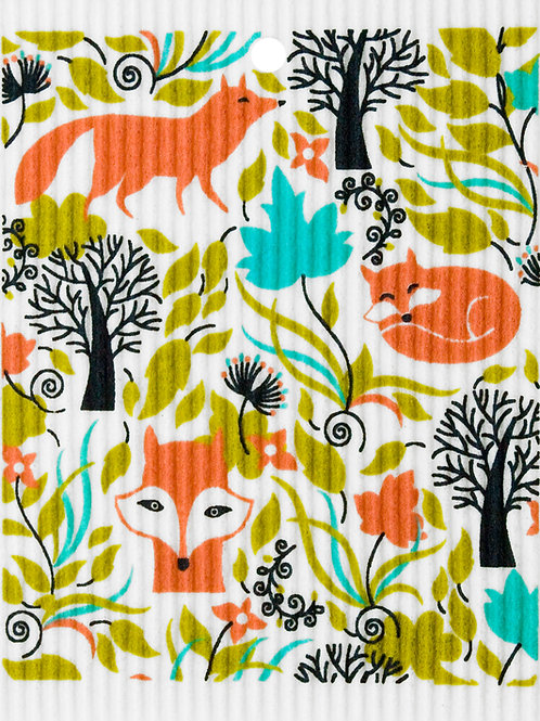 Foxes in Forest Wash Towel (MIN 6)