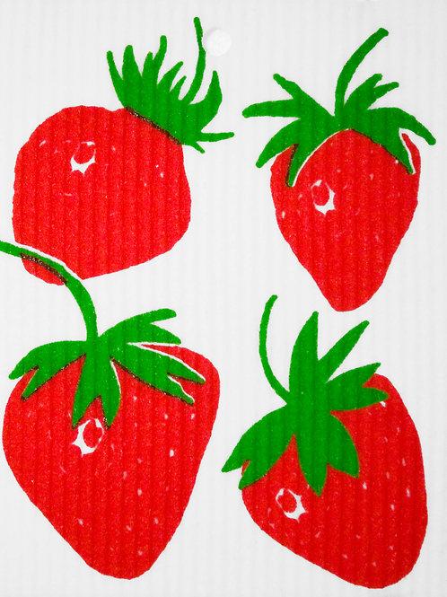 Strawberries Wash Towel (MIN 6)