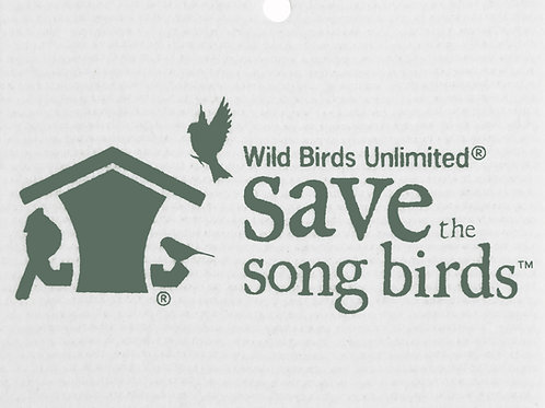 Wild Birds Unlimited Save the Song Birds Wash Towel (MIN 6)