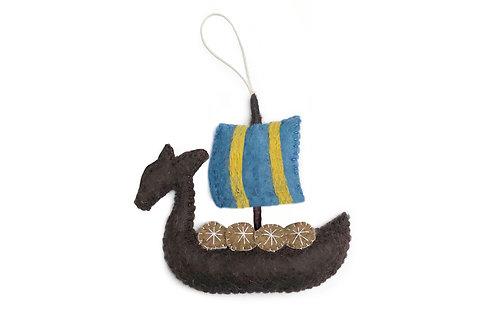 Sweden Viking Ship Ornament