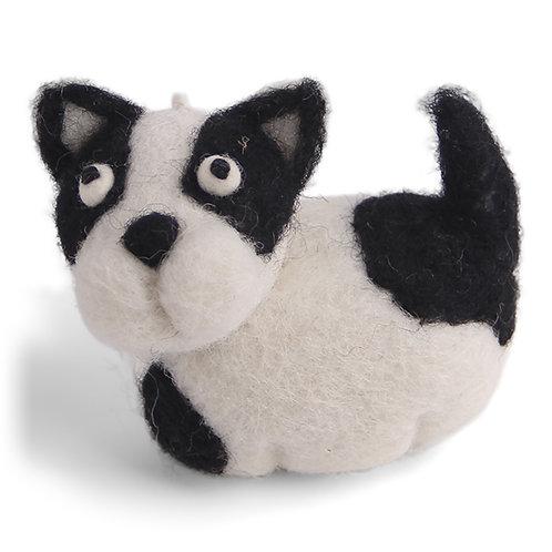 White & Black Dog Ornament (MIN 8)