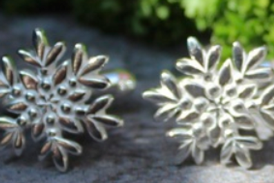 Arctic Flower Earrings on Post