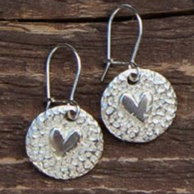 Round Heart Earrings