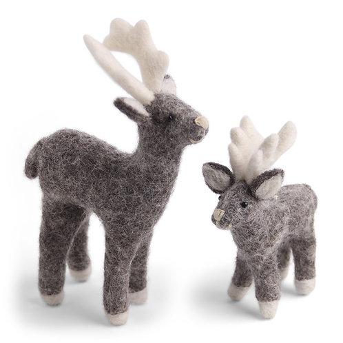 Natural Grey Reindeer Mother & Baby (MIN 4)