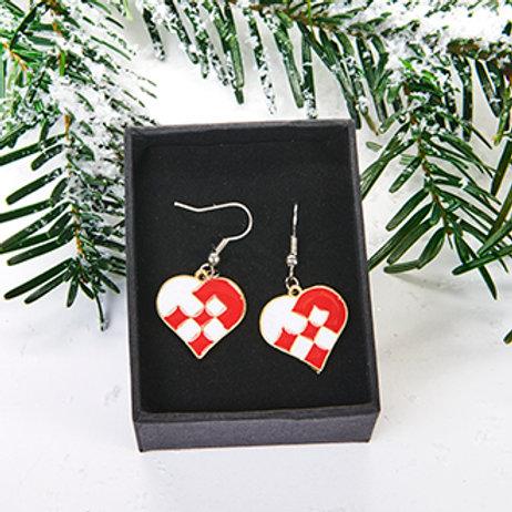 Braided Heart Earrings