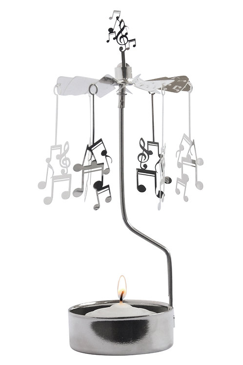 Music Notes Rotary Candleholder