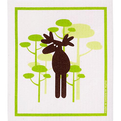 Moose & Tree Wash Towel (MIN 6)