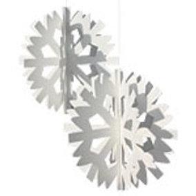 White Scandinavian Snowflake Mobile, 2/pkg