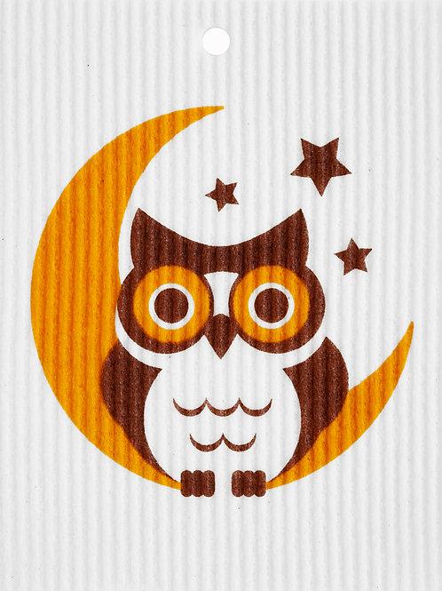 Owl in Moon Wash Towel (MIN 6)
