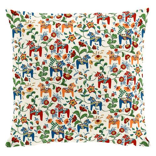 Beige Mini Dala Horse Pillow