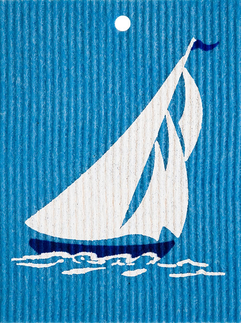 Sailboat by Harry W. Smith Wash Towel (MIN 6)