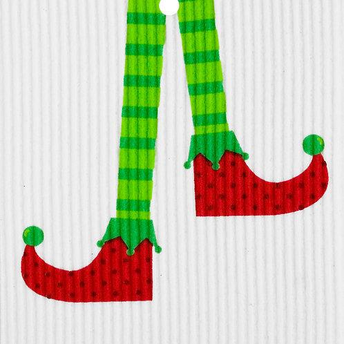 Elf Stockings Wash Towel (MIN 6)