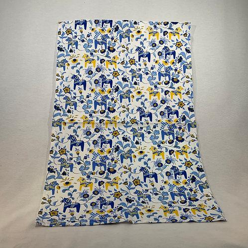 Blue Mini Dala Horse Hand Towel