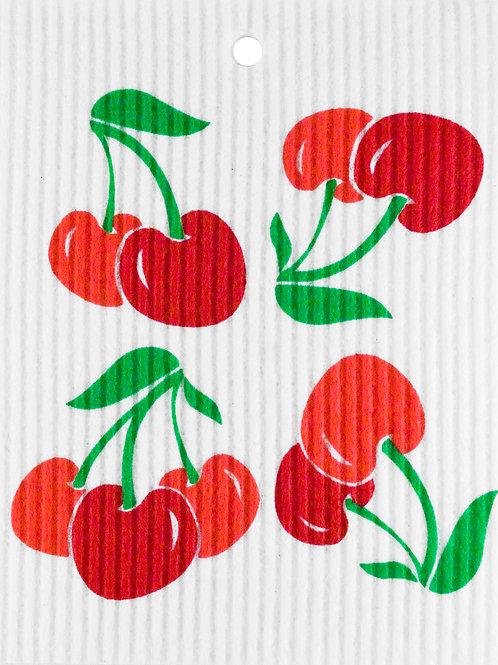 Cherries Wash Towel (MIN 6)