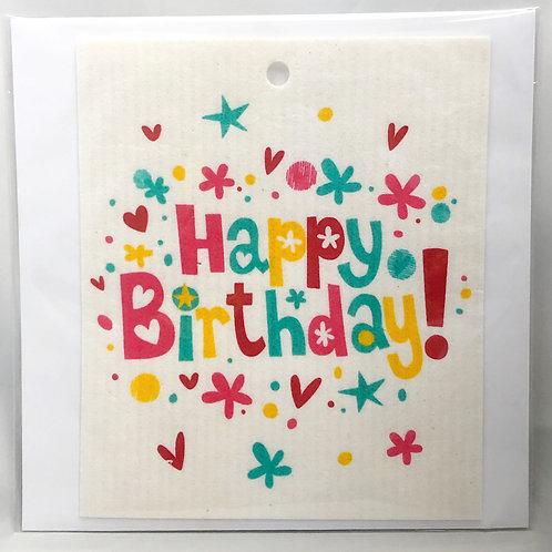Happy Birthday Wash Towel Gift Card (MIN 6)