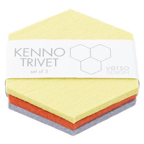 Multicolor Kenno Trivet, Set of 3