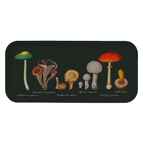 Mushrooms Rectangular Serving Tray