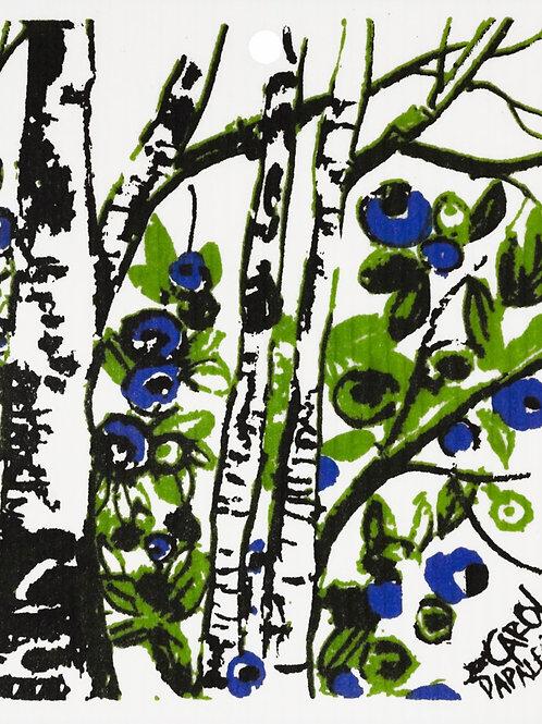 Blueberry & Birch Wash Towel (MIN 6)