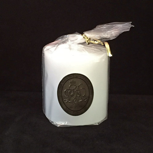 Short White Pillar Candle