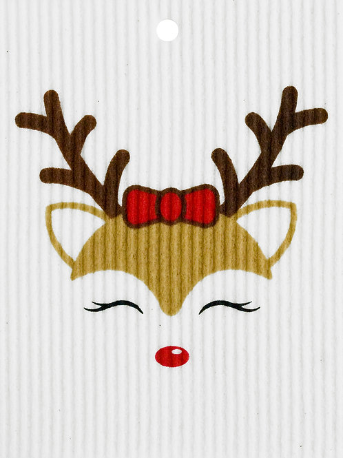 Reindeer Girl Wash Towel (MIN 6)