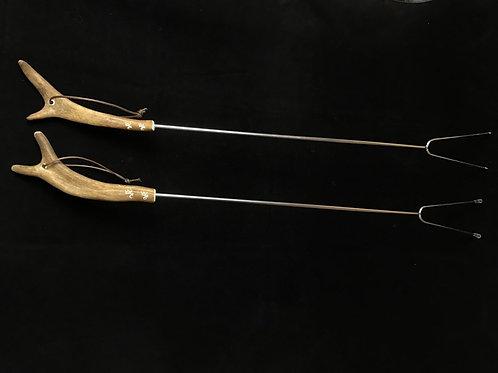 Reindeer Antler BBQ Forks, 2/pkg