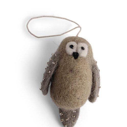 Dusty Green Owl Ornament (MIN 8)