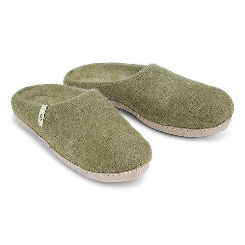Moss Green Slippers