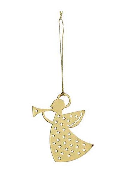 Gold Trumpet Angel Ornament