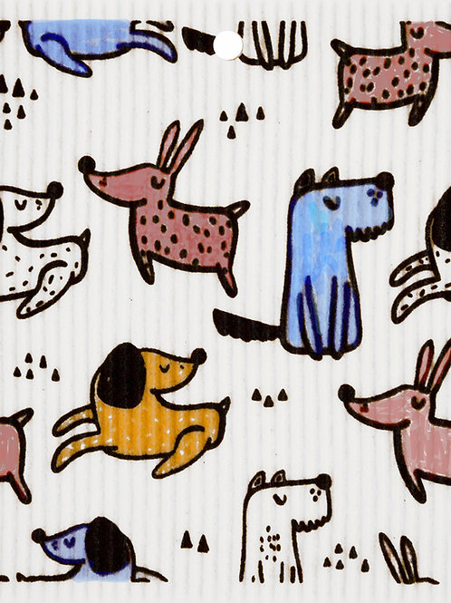 Playful Dogs Wash Towel (MIN 6)