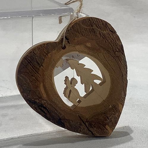 Moose w/Tree Heart Ornament