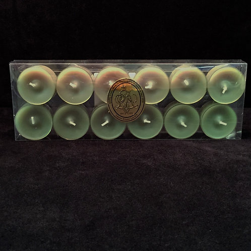 Green Spring Garden Scented Clear Cup Tealights