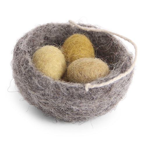 Nest Ornament w/Yellow Eggs (MIN 8)