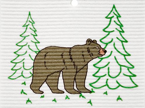 Bear in Trees by Harry W. Smith Wash Towel (MIN 6)