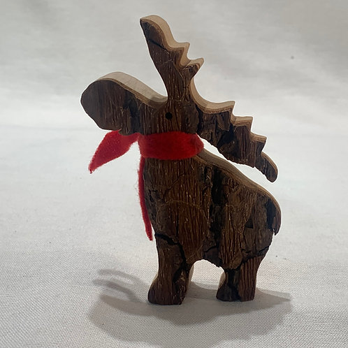 Medium Standing Moose w/Scarf