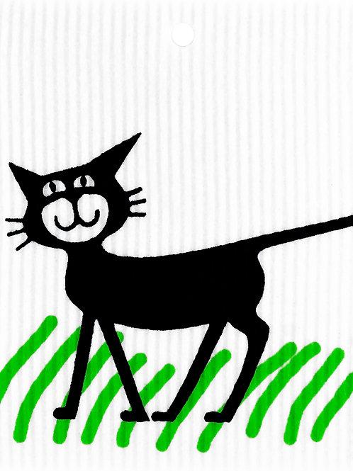 Cat in Grass WashTowel (MIN 6)