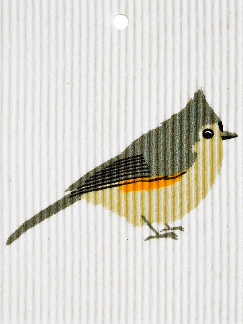 Tufted Titmouse Wash Towel (MIN 6)