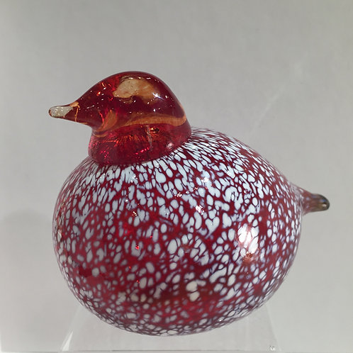 Red Bird w/White Dots