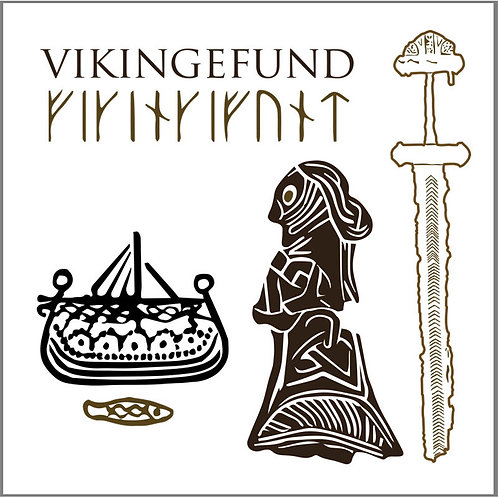 Viking Finds Square Card Folder w/8 Note Cards