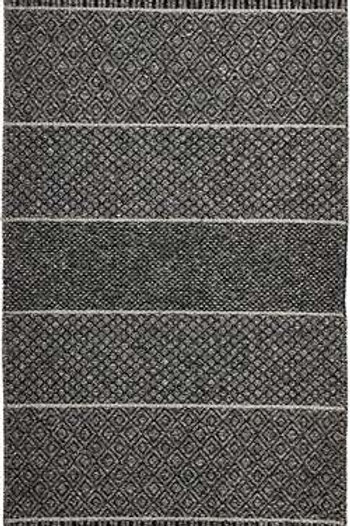 Large Graphite Mixed Alice Rug