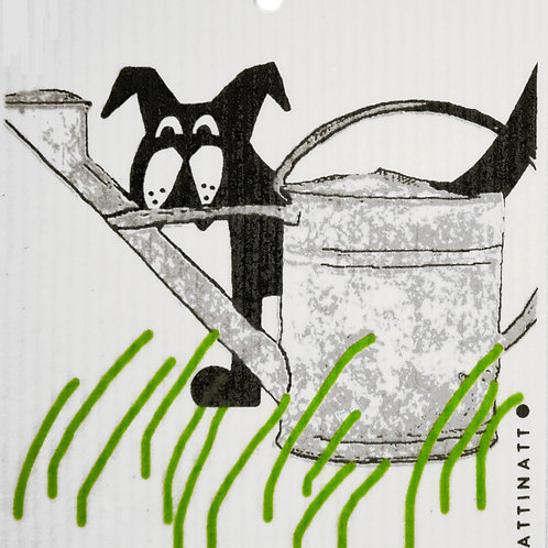 Dog with Watering Can Wash Towel (MIN 6)