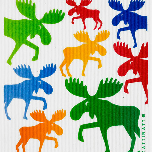 Large Multicolor Mooses Wash Towel (MIN 6)