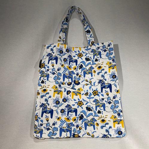 Blue Mini Dala Horse Small Tote Bag