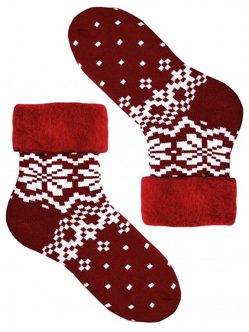 Red Unisex Warm Socks
