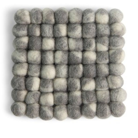Grey Square Stone Ball Coasters, Set of 2 (MIN 4)