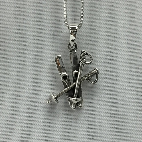 Pair of Skis Necklace